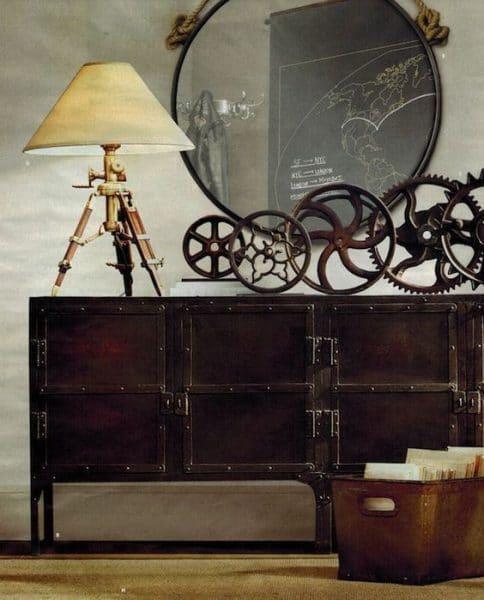 muebles y adornos steampunk