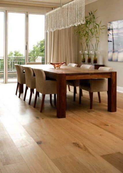 piso de madera para comedor