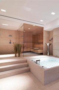 baño con hidromasaje y sauna
