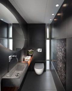 baño moderno chico