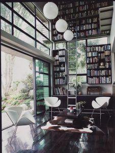 bibloteca doble altura