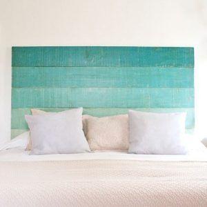 cabeceros de camas ideas maderas pintadas en degrade