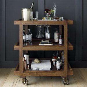 minibar de madera moderno