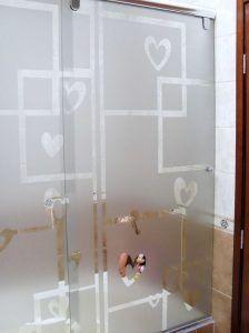 pegatina para ducha
