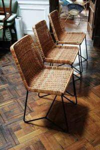 sillas modernas de mimbre