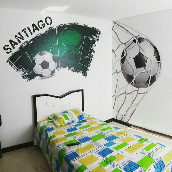 vinilos decorativos de futbol para niños