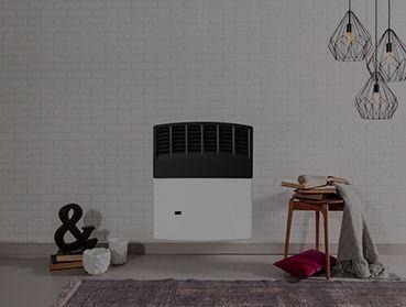 calefactores a gas en ambientes modernos