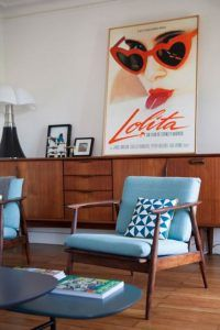 decoracion con muebles añso 50