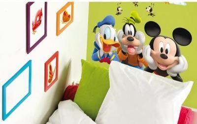 las tres figuras de mickey y sus amigos van juntas, ideal para colocar en el cabecero o un lateral de la cama o cualquier espacio horizontal