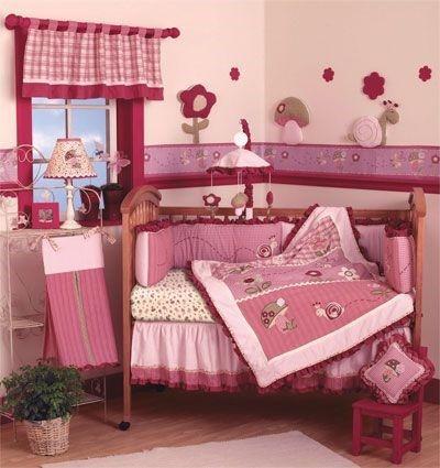 Cuarto bebe habitacion dormitorios baby rosado casa web for Decoracion habitacion bebe