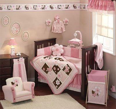 Cunas bebes nenes habitaciones rosa casa web for Decoracion de cuarto para nina recien nacida