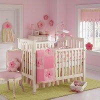 mobiliario infantil dormitorios bebe decoracion rosa blanco