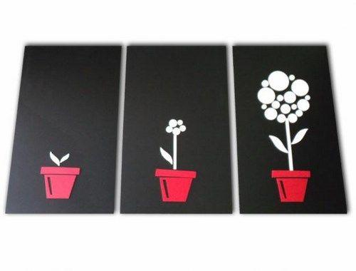 Cuadros modernos con flores casa web - Fotos de cuadros modernos ...