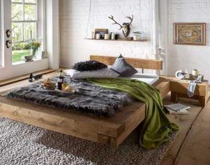 cama de pino rustica y moderna
