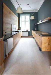 cocina moderna rustica con madera de pino