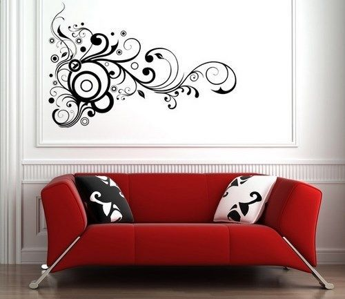 pictures of living room wall decor vinilos decorativos para el living casa web 26523