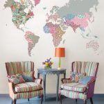 vinilo decorativo para sala de estar mundo