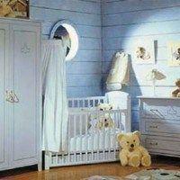 Habitaciones para bebes celeste y blanca