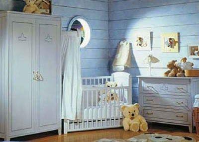 Habitaciones para bebes celeste y blanca casa web - Decoraciones para bebes ...
