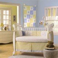 Habitaciones para bebes con amarillo y celeste