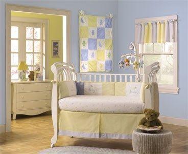 Habitaciones para bebes con amarillo y celeste casa web for Webs decoracion hogar