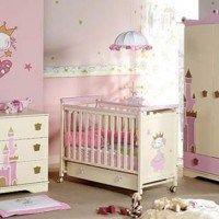 Habitaciones para bebes crema y rosa