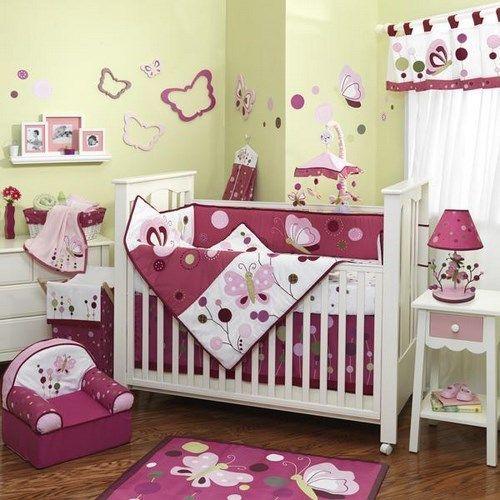 Habitaciones para bebes fucsia y verde casa web - Habitaciones de bebe ...
