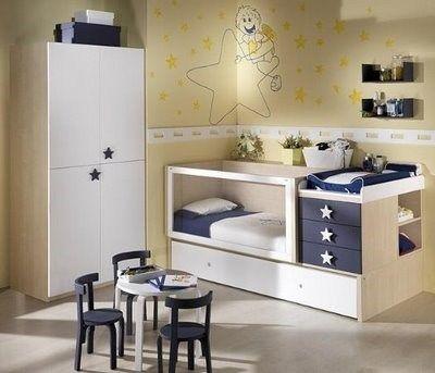 Habitaciones para bebes modernas blanco y azul casa web - Habitaciones bebe modernas ...