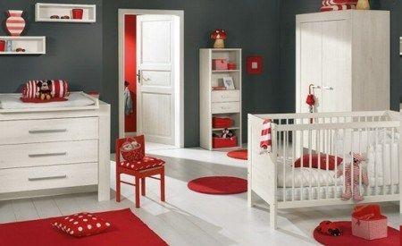 Habitaciones para bebes modernas gris y rojo casa web - Habitaciones de bebes modernas ...