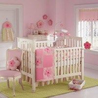 Habitaciones para bebes rosa y verde