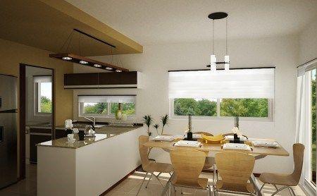 Cocina con comerdor diario casa web for Comedor de diario sodimac