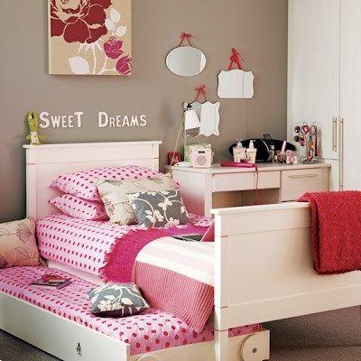 dormitorios juveniles en color rosa