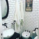 baño con revestimiento estilo subway barugel azulay