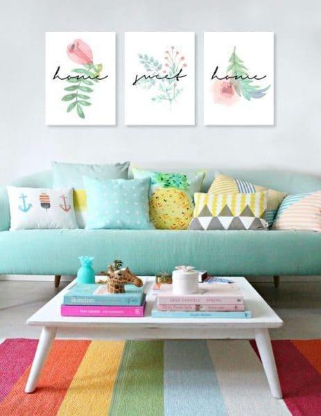 Cuadros modernos para living casa web for Cuadros de manualidades modernos
