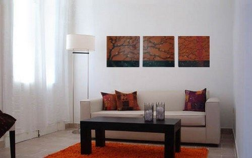 decorar living con cuadros1