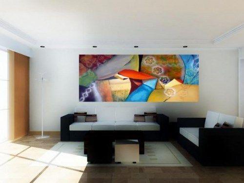 Cuadros modernos para living casa web for Living de madera modernos