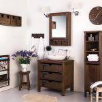 muebles para baño de madera maciza barugel azulay