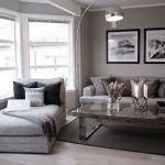 sala de estar mopderna en tonos grises