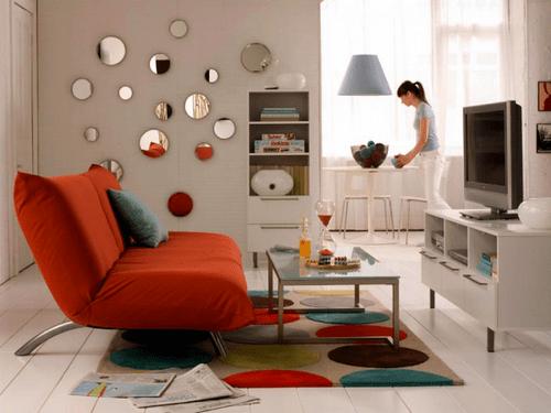 Seleccionar una alfombra para el living casa web for Como decorar un living comedor chico