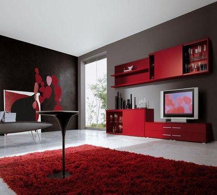 Alfombra Para Living Rojo Y Negro Casa Web