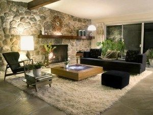 alfombra para living rustico