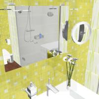azulejos amarillos para baño