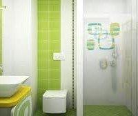 azulejos verde manzana para baño