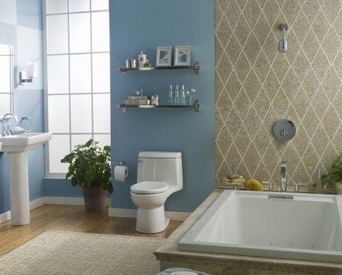 Ba o azul y beige casa web - Banos azules decoracion ...