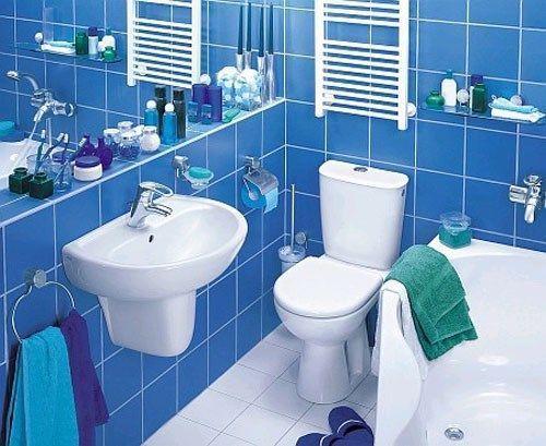 ba o con azulejos azules casa web