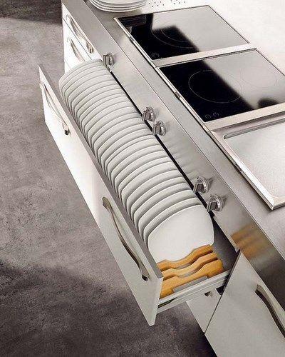 Cajon guarda platos casa web for Guardas para cocina modernas