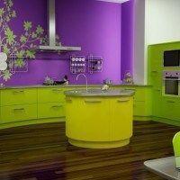 Cocinas verdes manzana casa web - Cocina color lila ...