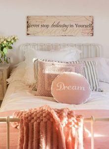 cuadro dormitorio juvenil romantico