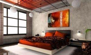 cuadro para dormitorio gris