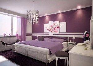 cuadro para dormitorio violeta